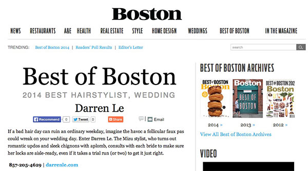 Boston Magazine's 2014 Best of Boston website and logo