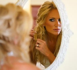 blonde Hair style for wedding in boston by darren le